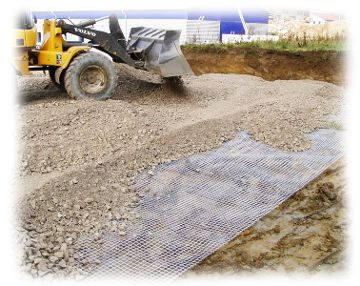 Laying of geogrid